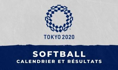 Softball – Jeux Olympiques de Tokyo : calendrier et résultats