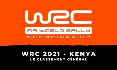 WRC 2021 - Safari Rallye du Kenya - Le classement général