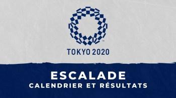 Escalade – Jeux Olympiques de Tokyo calendrier et résultats