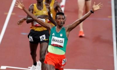 JO Tokyo 2020 - Athlétisme Selemon Barega en or sur le 10 000 mètres