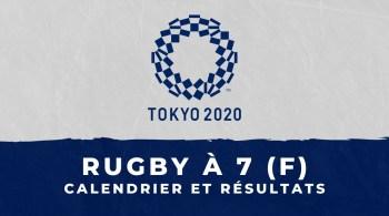 Rugby à 7 féminin – Jeux Olympiques de Tokyo calendrier et résultats