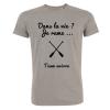 T-shirt Homme Gris Dans la vie Je rame – Team Aviron
