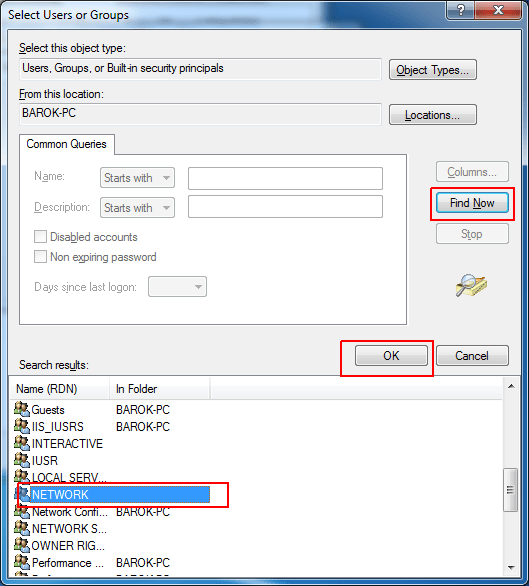 Problem Access is Denied Add Printer via Local Port