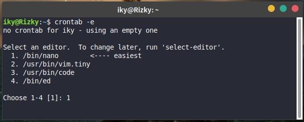 Add or Edit Crontab on Linux