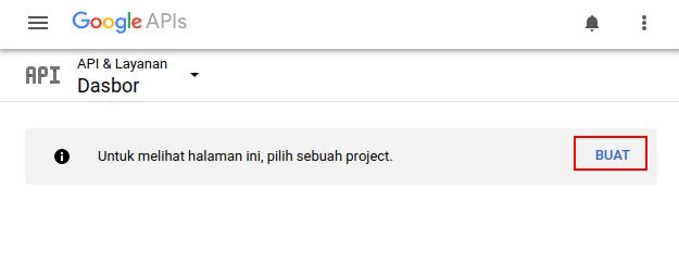 Membuat Project Baru Google Console