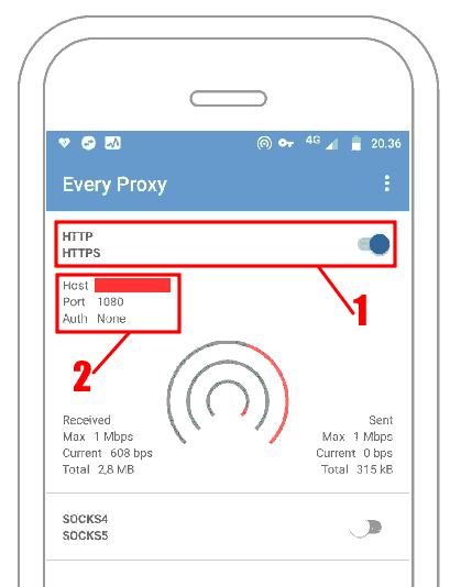 Every Proxy HTTP - Tethering VPN Android