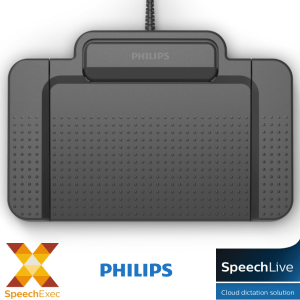 Philips ACC2330 USB Transcription Typing Pedal for SpeechExec Pro Transcribe and SpeechLive