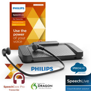 Philips Pro Transcription Kit LFH7277 includes headset pedal and Windows software licence