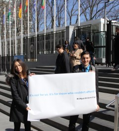 Protest in March