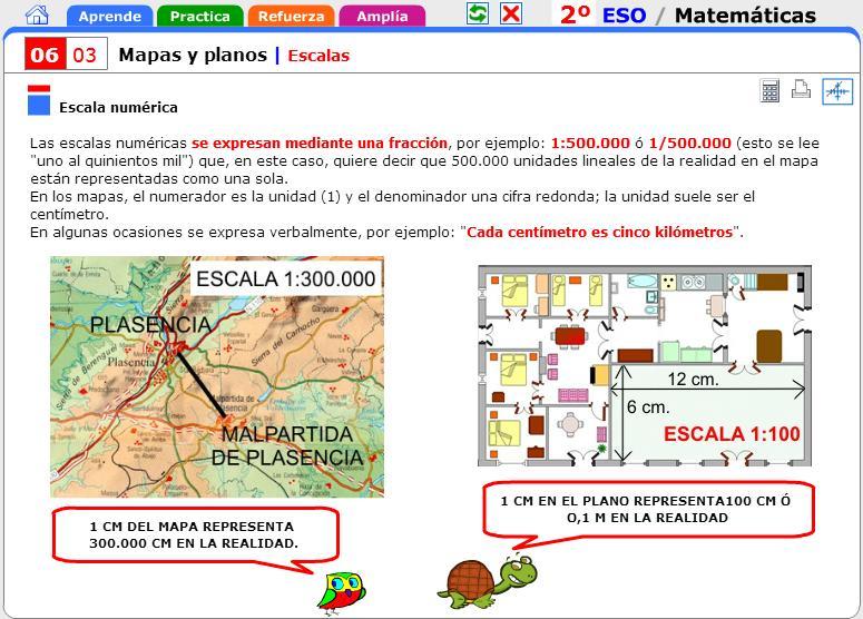 La Escala Del Mapa.Las Escalas De Los Mapas Geobiombo