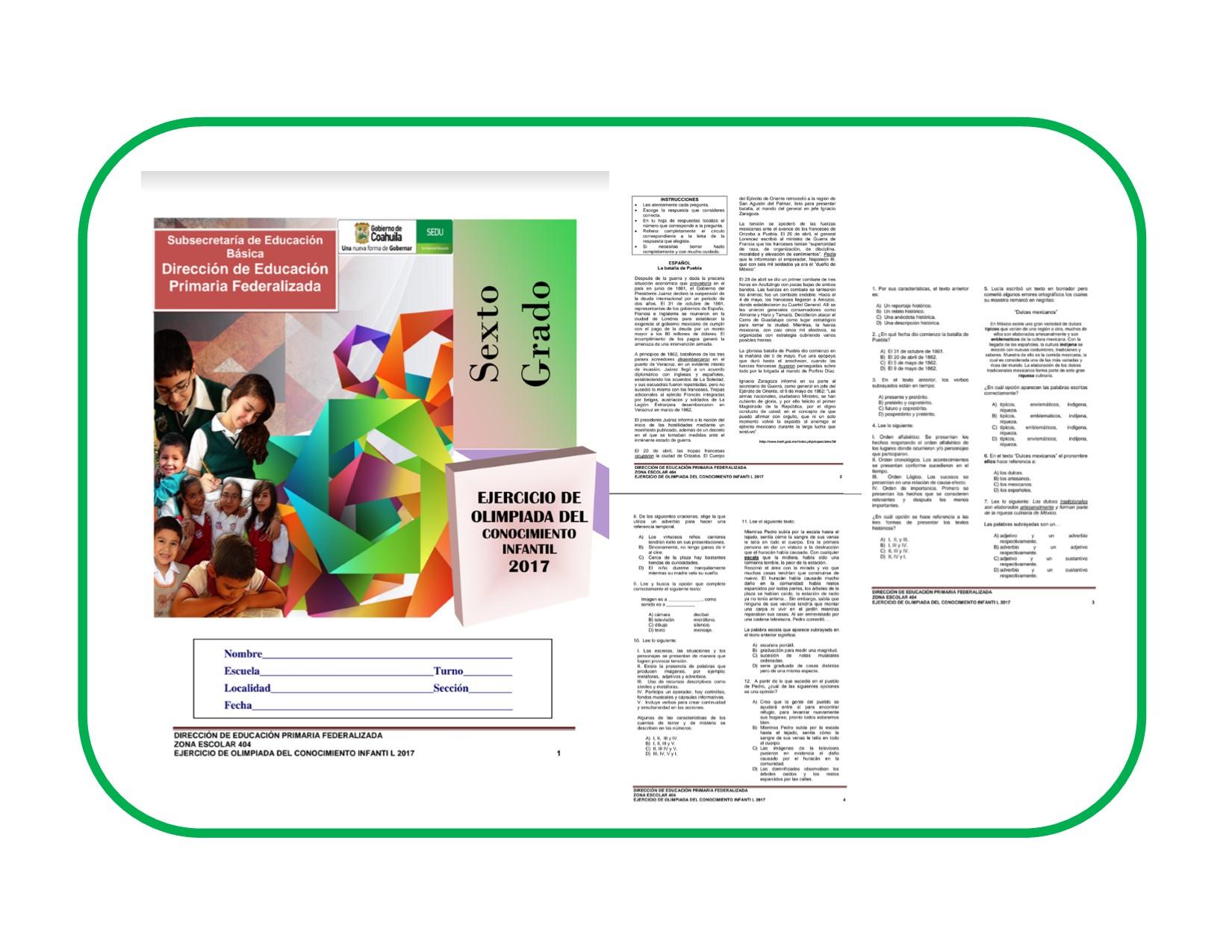 Resultado de imagen para olimpiada del conocimiento 2017 coahuila