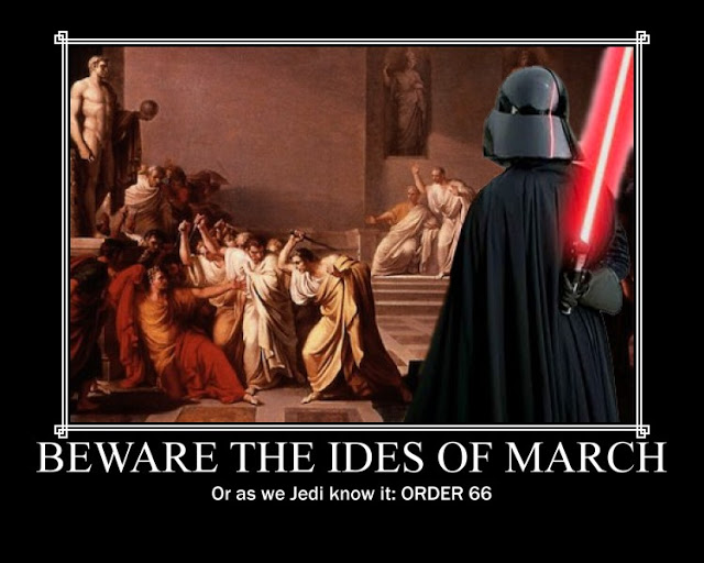 Monday morning Ides of March