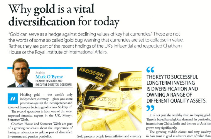 GoldCore: Executive Global Gold Vital Diversification