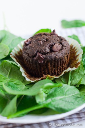 Double Chocolate Spinach Muffin