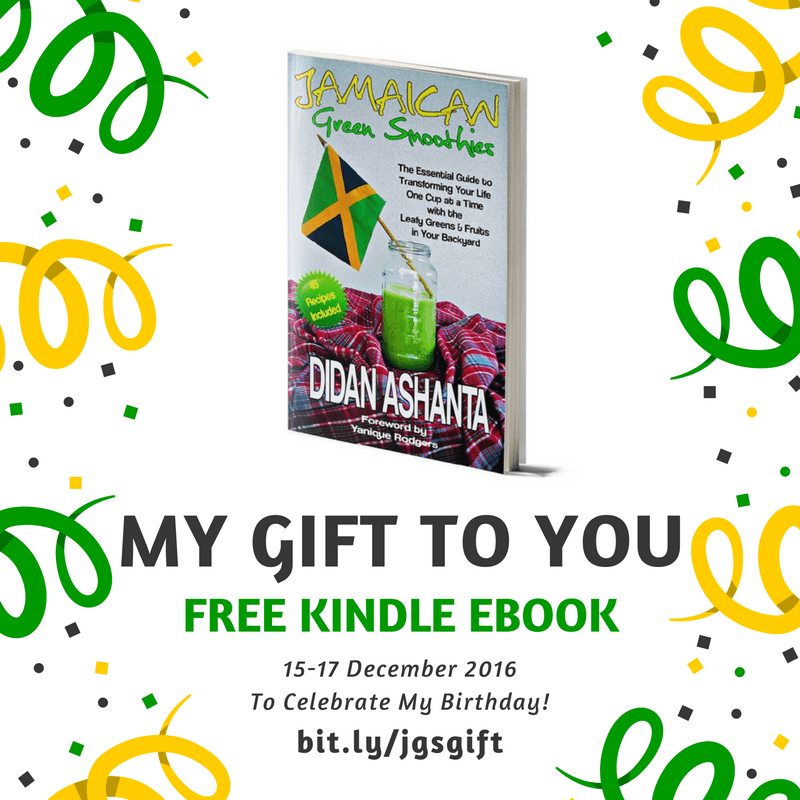 "Get the ""Jamaican Green Smoothies"" Book for FREE!"