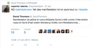 Tweet Manif Al Qaida