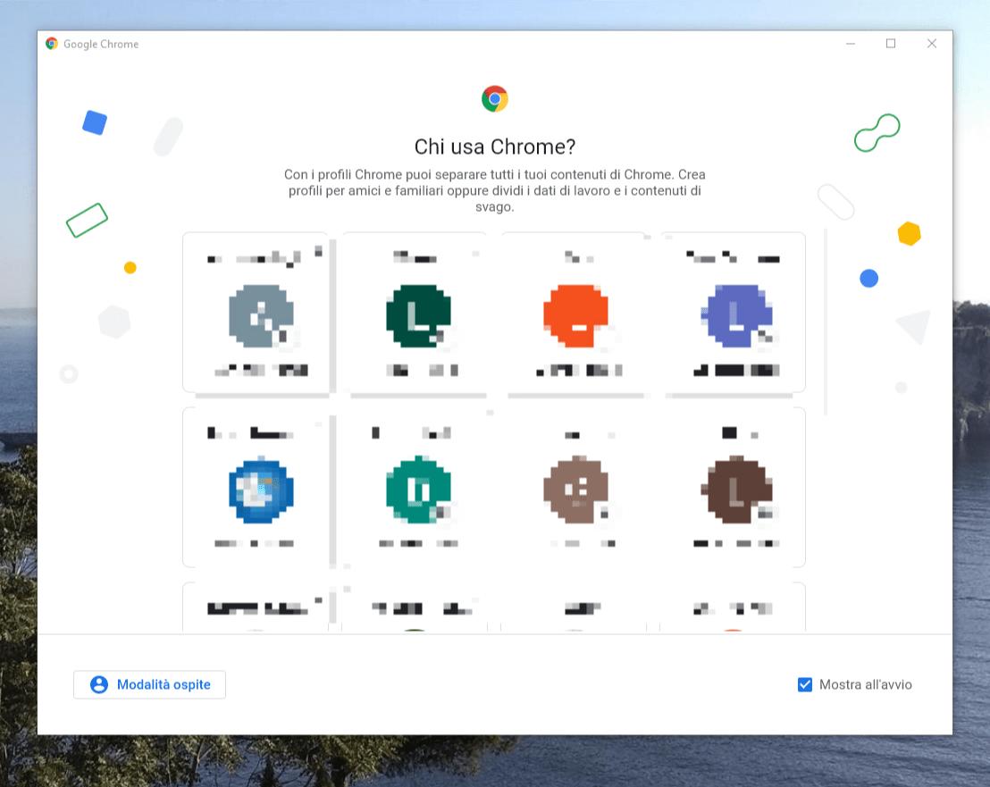 Scelta profilo Chrome