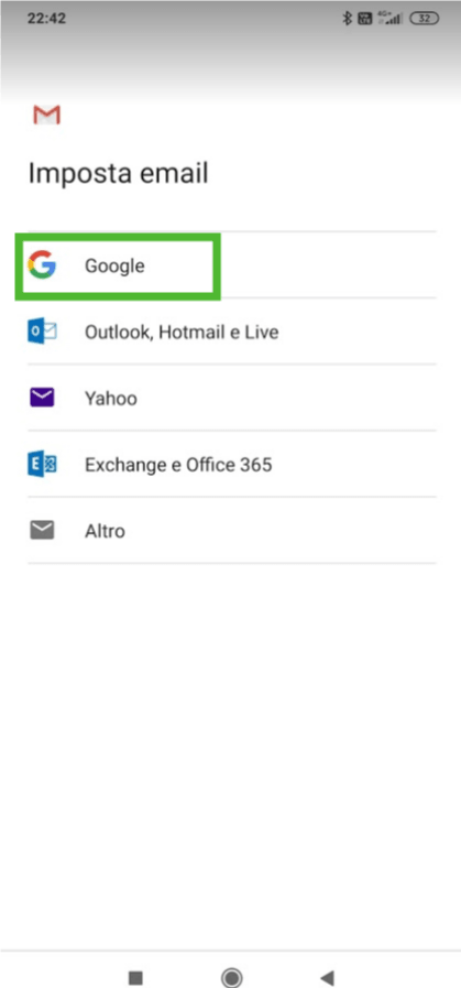 Attiva account mobile - scegli il servizio