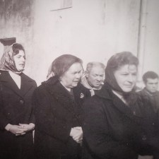 Processione, Scandriglia, 1963, particolare. L'immagine è elaborata in digitale con Instagram. L'originale è una stampa alla gelatina ai sali d'argento, 10x15 cm.