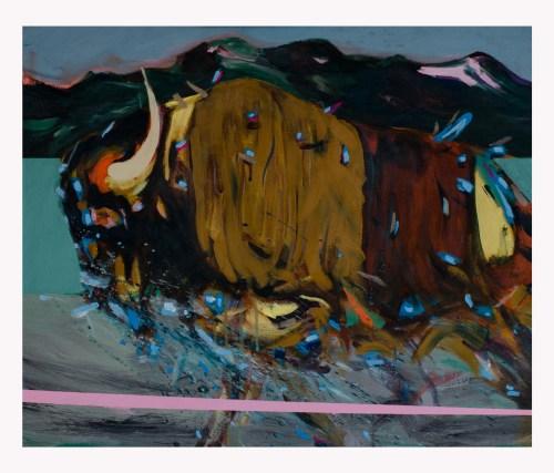 Pintura Bisonte de Agustín Guty González
