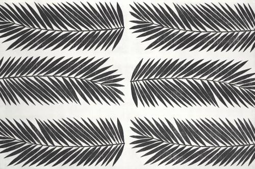 Xilografía, Obra Cibotium Schiedei de Lucía Prudencio