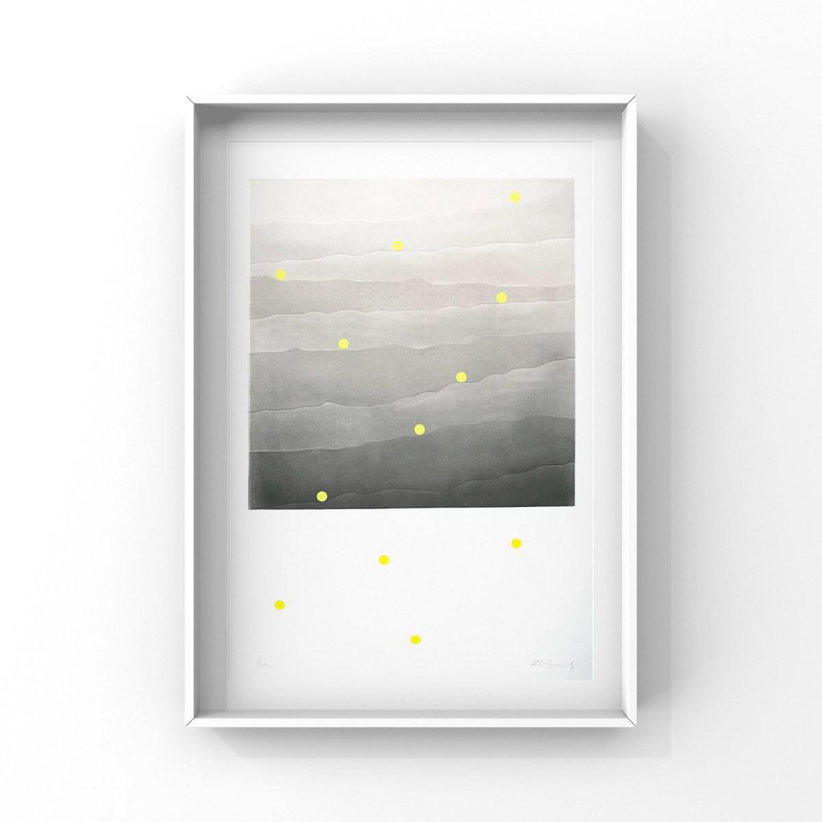 Carlos Vielma. Ondas 112x88 cm, grabado y tecnica mixta sobre papel