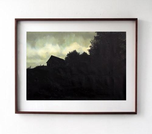 Carlos Vielma, pintura al oleo sobre pintura de autor desconocido