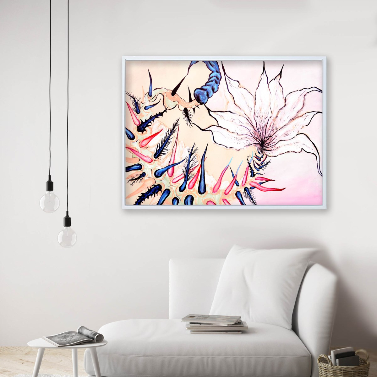 Pintura, Obra Veneno de Alan Hernández en living