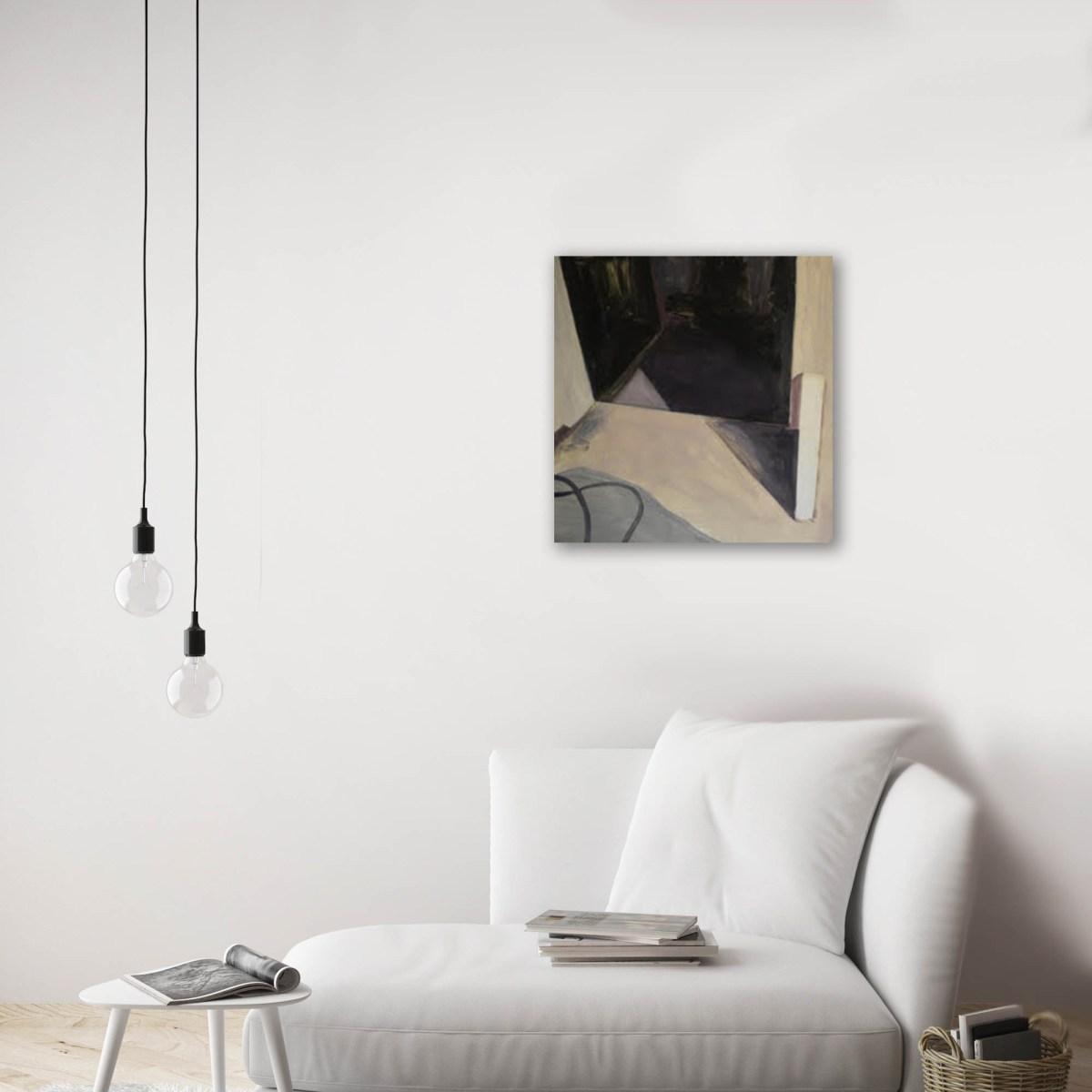Alicia Ayanegui, obra montada sobre sillon