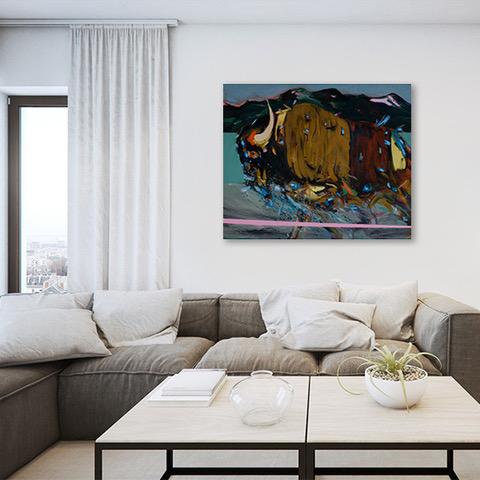 Pintura de Agustín Guty González en living