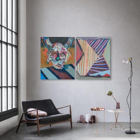 Pintura de Agustín González Guty en living