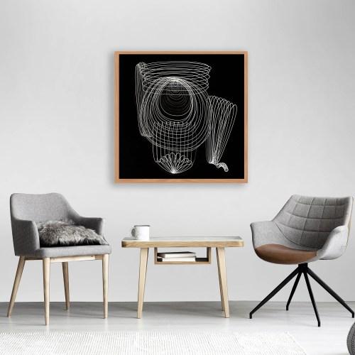 montaje obra Yee entre 2 sillas