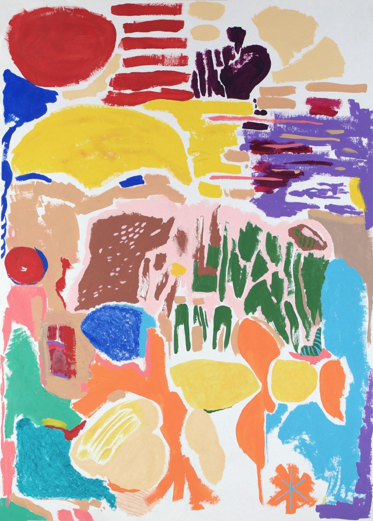 Pintura, obra siete soles y un jardín de Diana Quintero Vallejo
