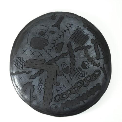 escultura en cerámica de media