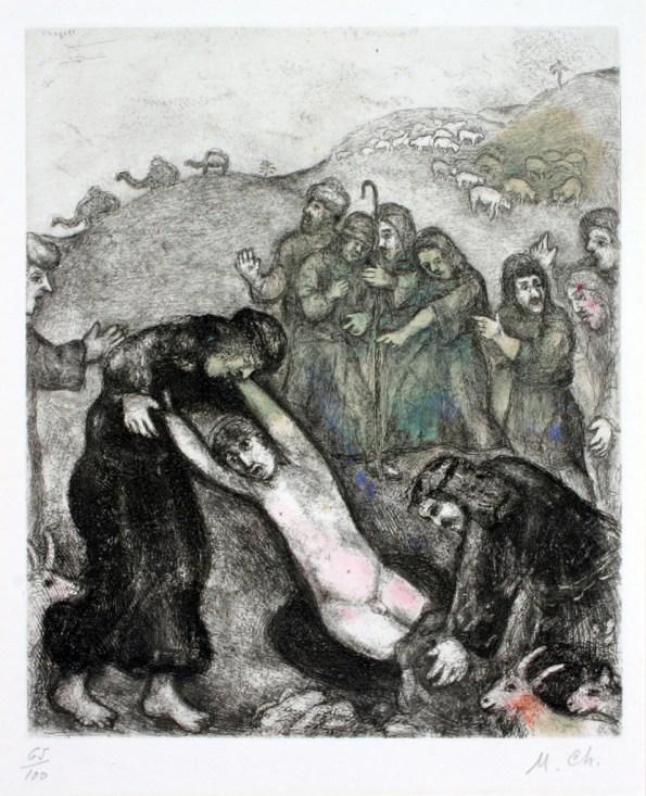 Marc Chagall, Joseph attaqué par ses frères, Haggerty Museum, 1957