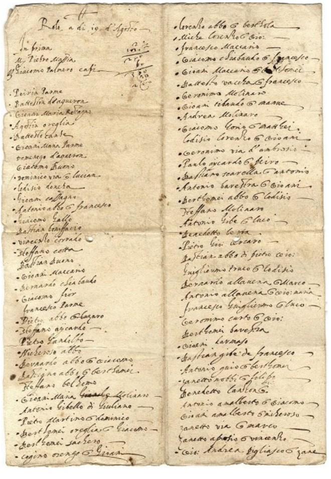 Liste de Jacob