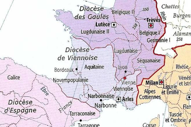 Provence romaine, IVè siècle, Bas Empire romain