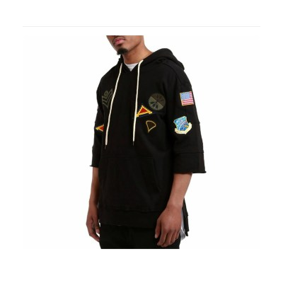 MEN'S TERRY BOXY HOODY PATCHES