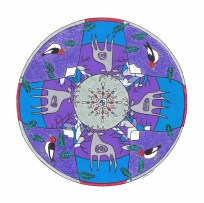 Stag Mandala (December) - $125