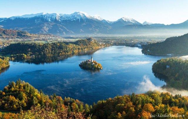Bled in Slowenien Fernweh Reisen mit Kindern Slowenien Bleder See