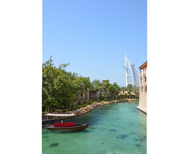 Dubai Dar al Masyaf Unterkunft Wasserstraße Wassertaxi Burj al Arab