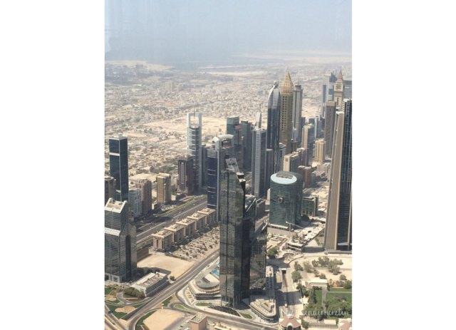 Dubai City Blick vom Burj Khalifa