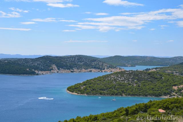 Kroatien Ausblick auf die Bucht
