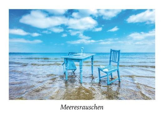 """Ansicht Postkarte """"Meeresrauschen X"""" aus der Serie """"Strandgut"""" Food in der Natur."""