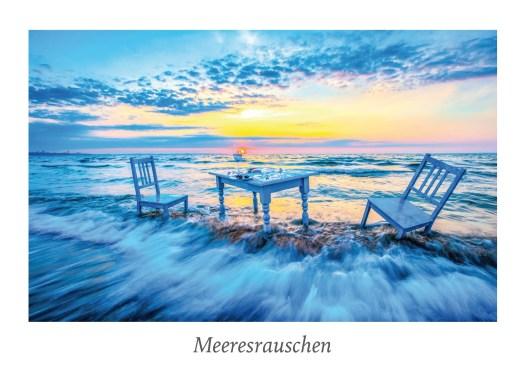 """Ansicht Postkarte """"Meeresrauschen"""" aus der Serie """"Strandgut"""" Food in der Natur."""