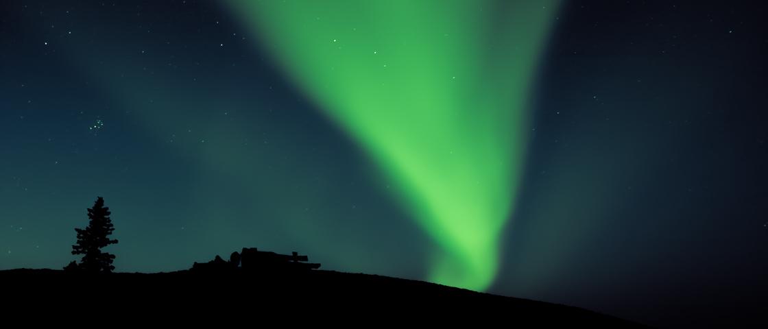 Nordlichter im Sommer