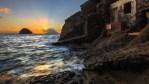 November: Sonnenuntergang in der Bucht von Pollara