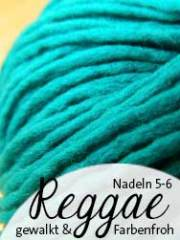 © Die Maschen zum Glück | Reggae von Schoppel Wolle. Gewalkte Schurwolle