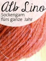 © Die Maschen zum Glück | Alb Lino Sockenwolle mit Leinen