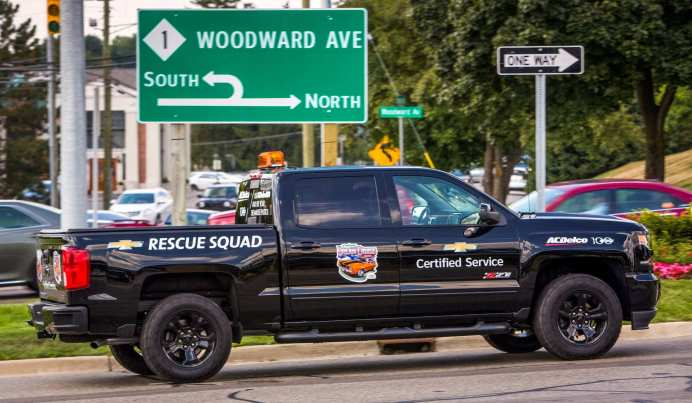 The Chevrolet Certified Service Rescue Squad will be on-hand on Saturday, August 20, 2016 to assist Woodward Dream Cruisers that stall, run out of gas, or overheat throughout the day.